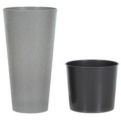 Prosperplast Doniczka tubus slim beton : średnica - 200 mm, kolor - beton