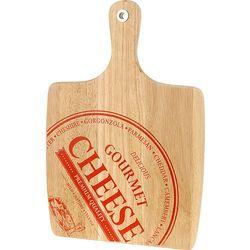 Drewniana deska do sera CHEESE - prostokątna z uchwytem