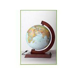 Zachem Globus 250 fizyczno-polityczny poświetlany oprawa drewniana (5906727909631)
