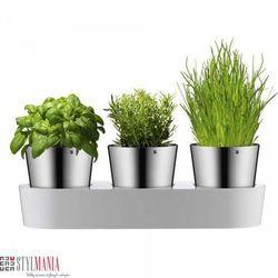 Samopodlewające się doniczki na zioła WMF Gourmet (doniczka i podstawka)