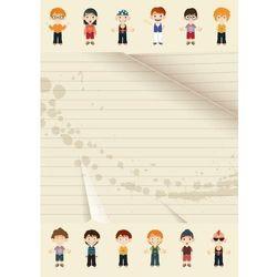 Tablica magnetyczna suchoscieralna dla dzieci postacie 140 marki Wally - piękno dekoracji