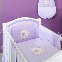 MAMO-TATO pościel 3-el Tulisie w fiolecie do łóżeczka 70x140cm