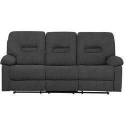 Sofa trzyosobowa tapicerowana ciemnoszara rozkładana BERGEN, kolor szary