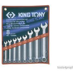 ZESTAW KLUCZY PŁASKO-OCZKOWYCH 8cz. 10 -22mm King Tony 1208MR, 1208MR