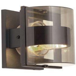 Elstead Zewnętrzna lampa ścienna frida/s elewacyjna oprawa półokrągła kinkiet do ogrodu ip54 przezroczysty grafitowy