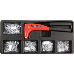 Wkład do szuflady nitownica z zestawem nitów 6cz. / yt-55466 / - zyskaj rabat 30 zł marki Yato