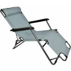 Severno garden Leżak krzesło plażowe ibiza ciemnoszary