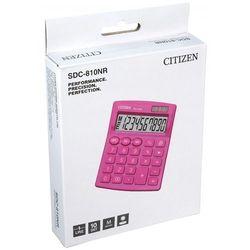 Kalkulator biurowy sdc-810nrpke, 10-cyfrowy, 127x105mm, różowy marki Citizen