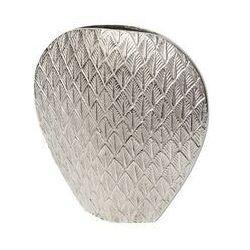 Sia Wazon amona – aluminium – 38 × 33,5 cm (wys. × szer.) – kolor srebrny