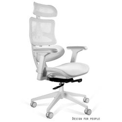 Unique Fotel biurowy ergonomiczny ergotech biały cm-b137aw-4 - złap rabat niespodzianka