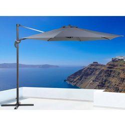Parasol ogrodowy – antracytowy – ø 291 cm – na wysięgniku – metalowy - savona od producenta Beliani