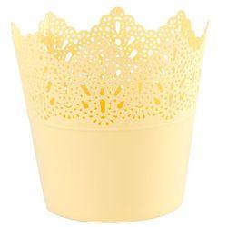 Osłonka plastikowa koronka 11,5 cm, żółty marki 4home