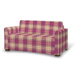 pokrowiec na sofę solsta, różowo-beżowa kratka, sofa solsta, mirella marki Dekoria
