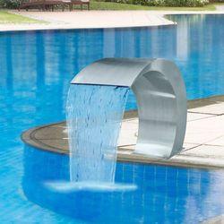 vidaXL Fontanna ze stali nierdzewnej do basenu ogrodowego, 45x30x60 cm (8718475926009)