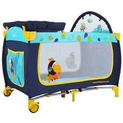 Łóżeczko turystyczne z wyposaiem niebieskie tukan wyprodukowany przez Babyono