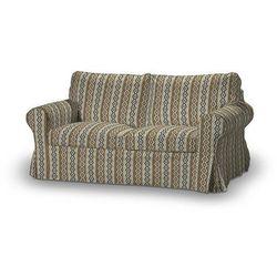 Dekoria Pokrowiec na sofę Ektorp 2-osobową, nierozkładaną, beżowo-czarna mozaika, Sofa Ektorp 2-osobowa, Wyprzedaż do -30%, kolor czarny