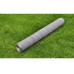Vidaxl  siatka ogrodzeniowa ocynkowana 50 cm x 25 m 0,75mm, kategoria: przęsła i elementy ogrodzenia