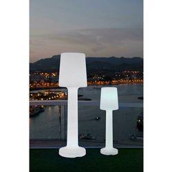 Sofa.pl New garden lampa ogrodowa carmen 165 b biała - led, wbudowana bateria