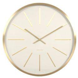 Karlsson:: Zegar ścienny Maxiemus Brass Station White, kolor biały