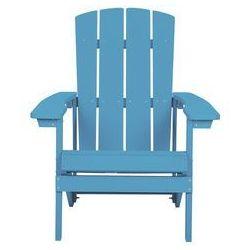 Krzesło ogrodowe turkusowe adirondack marki Beliani