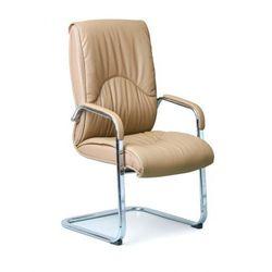 B2b partner Konferencyjne krzesło lux, skóra, beżowy