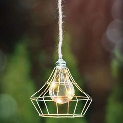 Lampa solarna led rusti z kloszem klatkowym marki Eglo