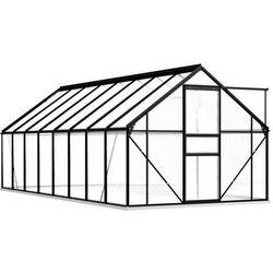 szklarnia z ramą podstawy, antracytowa, aluminium, 29,79 m³ marki Vidaxl