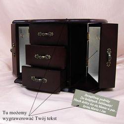 Szkatułka na biżuterię z możliwością grawerowania dedykacji, życzeń... - sprawdź w wybranym sklepie