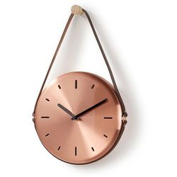 :: zegar ścienny wolly śr.20cm miedziany - miedziany marki Laforma