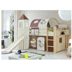 Ticaa kindermöbel Ticaa łóżko ze zjeżdzalnią kasper drewno sosnowe kolor brązowo-beżowy pirat, kategoria: łóżeczka i kołyski