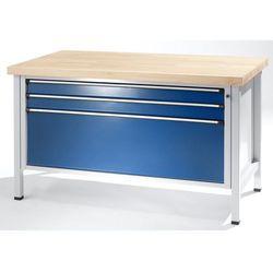 Stół warsztatowy z szufladami xl/xxl, szer. 1500 mm, 3 szuflady, blat z litego b marki Unbekannt