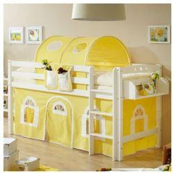 TiCAA Łożko piętrowe Timmy R buk, biały - żółty/biały