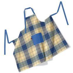 Dekoria Fartuch szefa kuchni męski, duża niebiesko-żółta krata, 123x100 cm, Bristol - sprawdź w wybranym sklepie