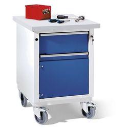 Anke werkbänke - anton kessel Kompaktowy stół warsztatowy, blat uniwersalny, szer. x głęb. 605x650 mm, 1 szufl