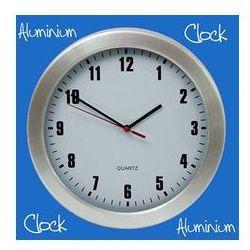Zegar aluminiowy ścienny jasny