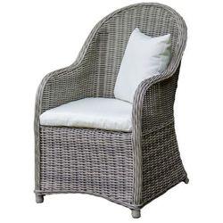 Krzesło ogrodowe Weronika z okrągłego technorattanu szary, BG-0132
