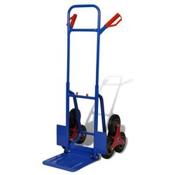 Vidaxl wózek transportowy, do wjeżdżania po schodach, niebieski 150 kg