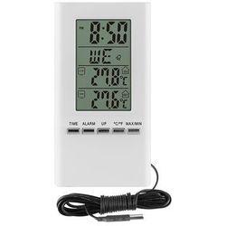 Florentyna Termometr elektroniczny wewn zewn biały -bio