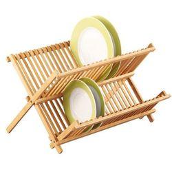 Bambusowa suszarka do naczyń, ociekacz - 2 poziomy,  wyprodukowany przez Zeller