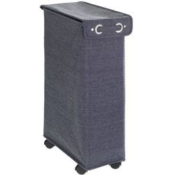 Wenko Kosz na pranie corno prime, pojemność 43 litry, zamykany, niebieski, wykonany z poliestru i bawełny, posiada kółka, marka (4008838244371)