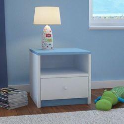 Kocotkids Szafka nocna do sypialni, babydreams, 40 cm, biały, niebieski