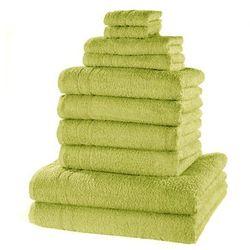 """Komplet ręczników """"new uni deluxe"""" (10 części) soczysta zieleń marki Bonprix"""