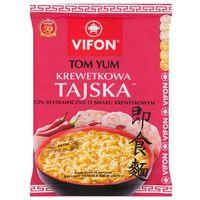 70g tom yum krewetkowa tajska zupa błyskawiczna o smaku krewetkowym ostra marki Vifon