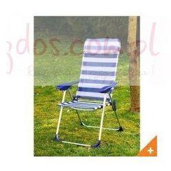 Krzesło aluminiowe ogrodowe - motyw morski w paski