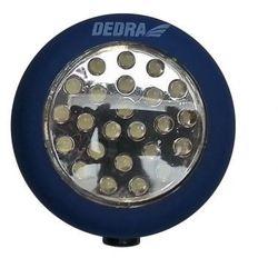 latarka 24 led okrągła z magnesem i hakiem {baterie w zestawie} od producenta Dedra