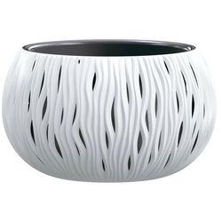 Doniczka Sandy Bowl z wkładem 37 cm biała (5905197223148)