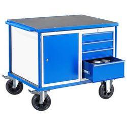 Wózek warsztatowy MOBILE, szafka, szuflada, 875x1000x700 mm, 28013