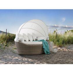 Kosz plażowy jasnobrązowy - ogrodowy - rattanowy - leżanka - sylt marki Beliani