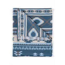 Bonprix Narzuta w etniczny deseń niebieski