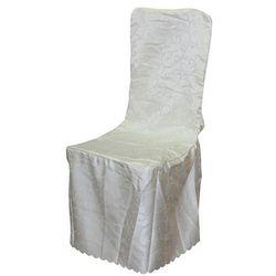 Narzuta na krzesło Biały pokrowiec
